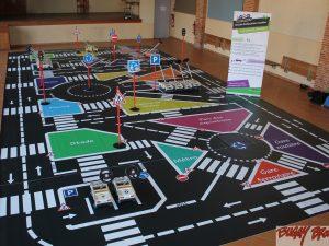 Circuit d'éducation routière école démontable 72m2 - www.tousenroute.com