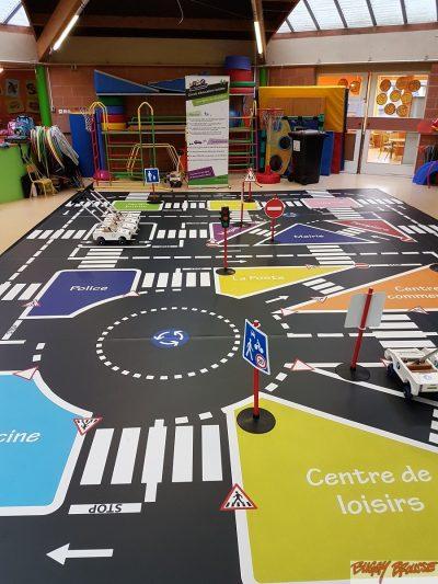 Circuit pédagogique 48m2 éducation routière en école maternelle - www.tousenroute.com