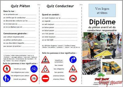 Diplôme sécurité routière enfants recto www.tousenroute.com