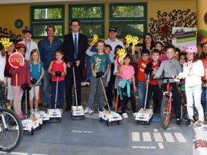 Education routière à l'école Trianon de Pau 2017 avec la Police Municipale
