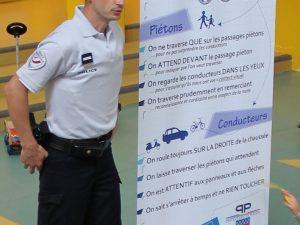 Totem des règles de circulation sur circuit d'éducation à la sécurité routière- Police Municipale www.tousenroute.com