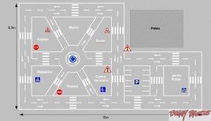 Circuit d'éducation routière cour de récréation - www.tousenroute.com