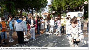 2016 09 Quint-Fonsegrives - ladepeche - Le village de la sécurité routière buggybrousse.com
