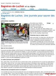 Bagnères-de-Luchon. Une journée pour sauver des vies - Haute-Gar buggybrousse.com