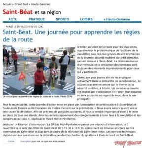 Saint-Béat. Une journée pour apprendre les règles de la route - buggybrousse.com
