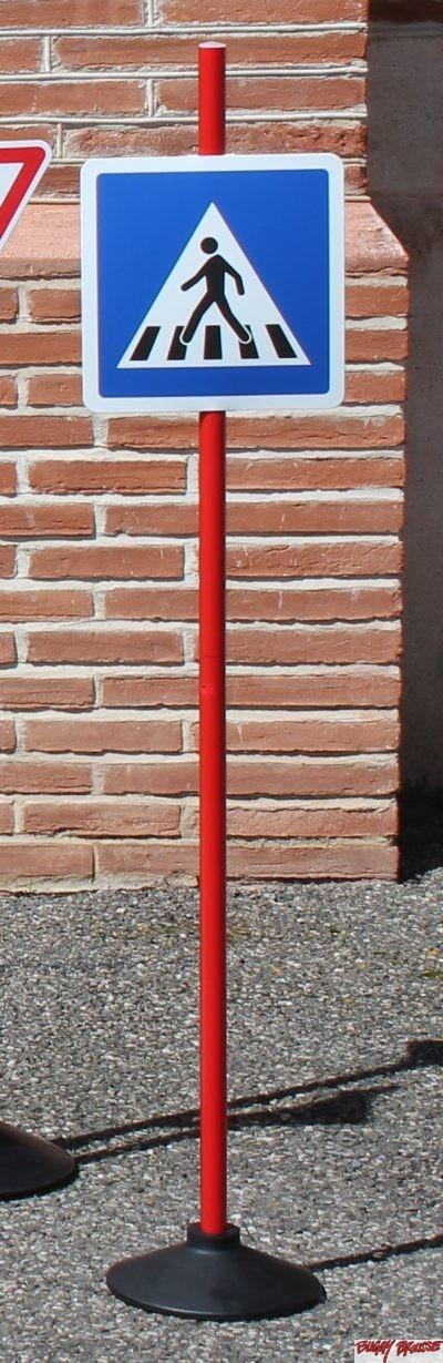 Panneau éducation routière Passage piétons 120cm