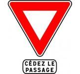 Panneau Cedez le passage - AB3a+m9c