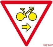 Panneau Cycle autorisé à droite - M12a
