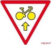 Panneau Cycle autorisé tout droit - M12b