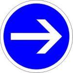 Panneau Sens obligatoire réversible - B21-1-2