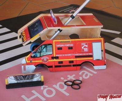 Jouet Fourgon pompiers Buggy Brousse démonté