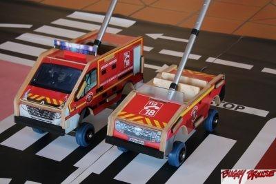 Jouets véhicules pompiers Buggy Brousse
